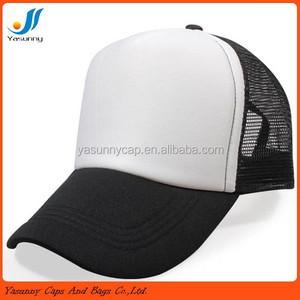 3abb5eabf9e Hot sale plain Nylon Mesh Trucker Cap 5-panel foam mash trucker cap