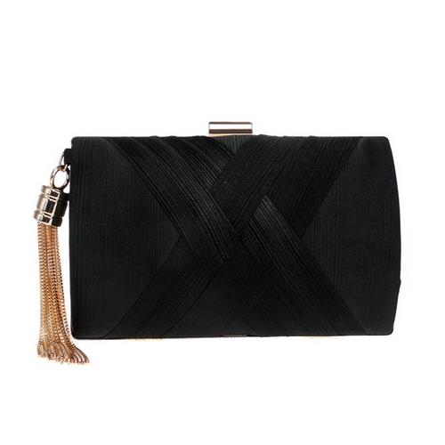 SEKUSA Новое поступление, женская сумка-клатч с металлической кисточкой и цепочкой, сумки на плечо, классический стиль, маленькая сумочка, вече...(Китай)