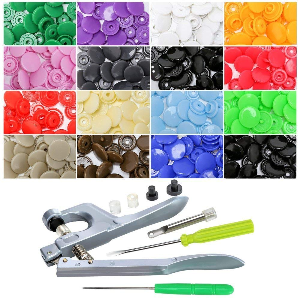Plastic Snaps Hand Held Pliers Tool Set Sets Buttons Tools Colors Handheld Case