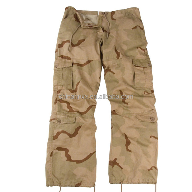 Camouflage women's tactical cargo pants