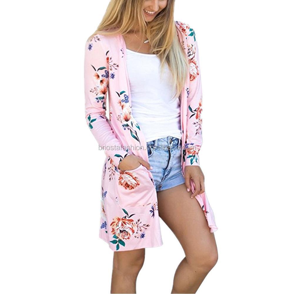 Wholesale Popular Women Floral Kimono Cardigan - Buy Kimono ...