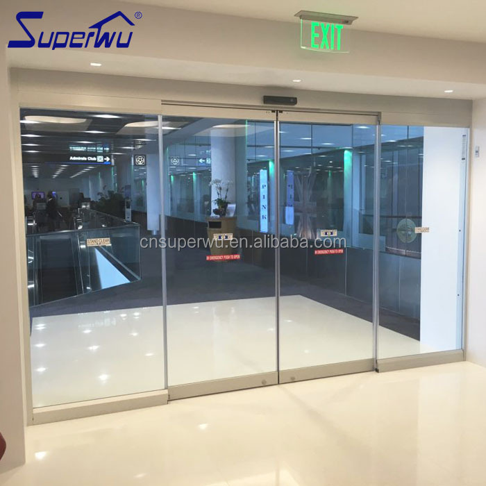 Automatic frameless aluminum sliding door glass sensor door