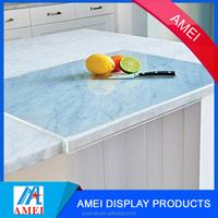 2017 decorative durable non slip acrylic cutting board with counter lip