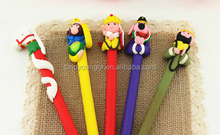Tang Priest head polymer clay pens promotion ballpoint pen Novelty pen