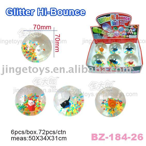 Sell 70MM Flashing Hi Bouncing Crystal water Ball with Colorful Beads and halloween toy