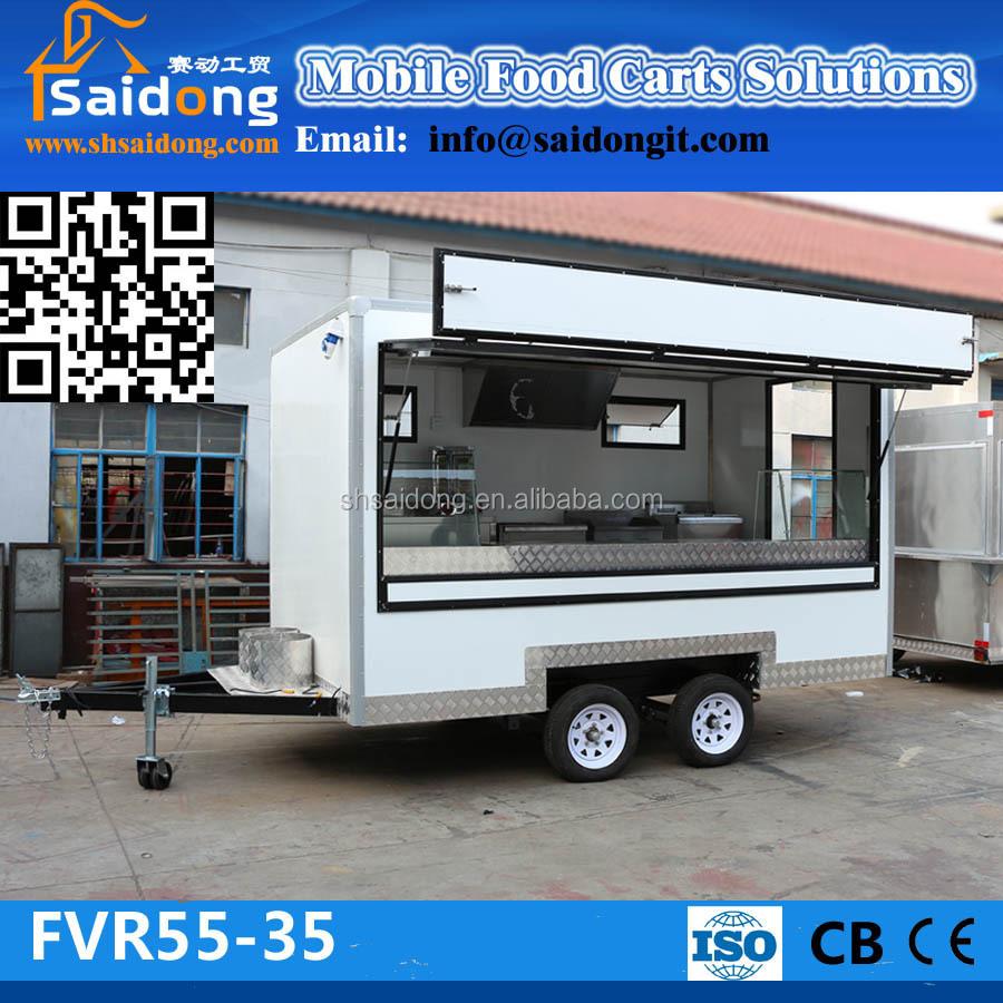 ענק מצב חדש מזון חניך קרוון קרוואן מזון מהיר קיוסק למכירה-מכונות WS-31