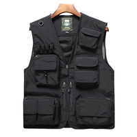 Logo customized Air-mesh fashionable windproof outdoor work vest for men