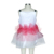 Girl Round Neck Solid Color Pink Kid Waistbelt Nylon Cotton Dress