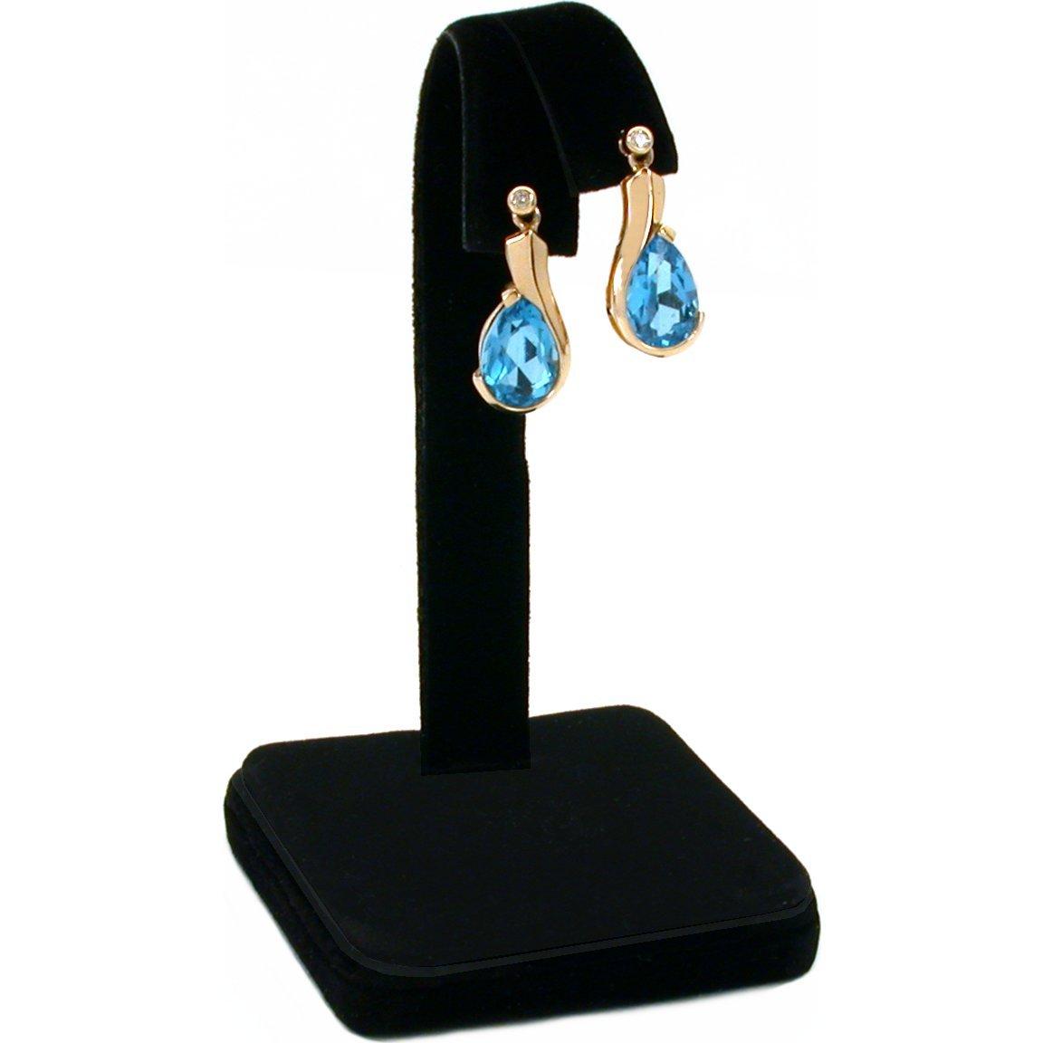 Black Velvet Earring Display Jewlery Showcase Counter