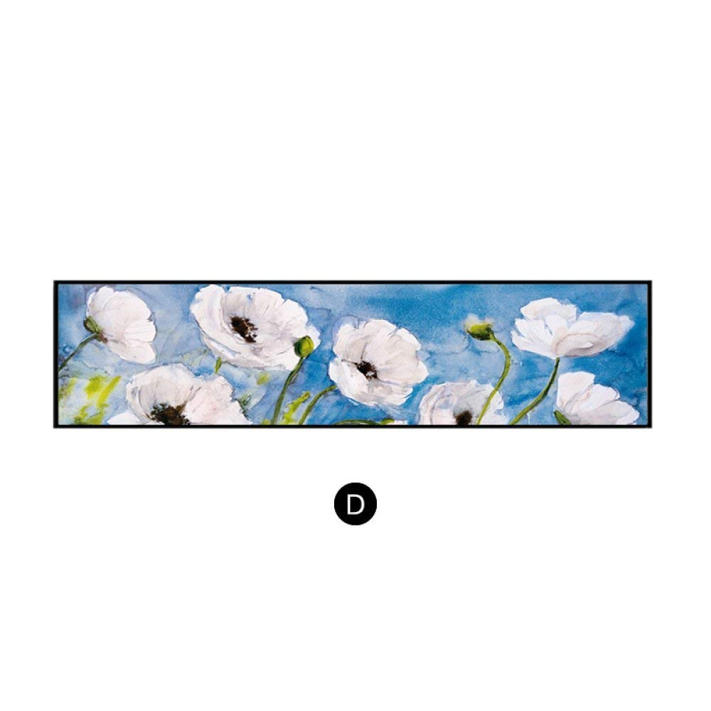 STTS Modern Decorative Painting, Sofa Background Wall, Rectangular Bedroom Painting, Vintage American Flower Framed Bedside Painting