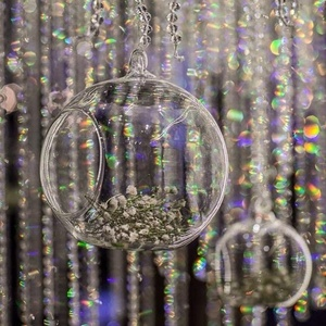 crystal hanging wedding glass ball candle holder for wedding centerpiece