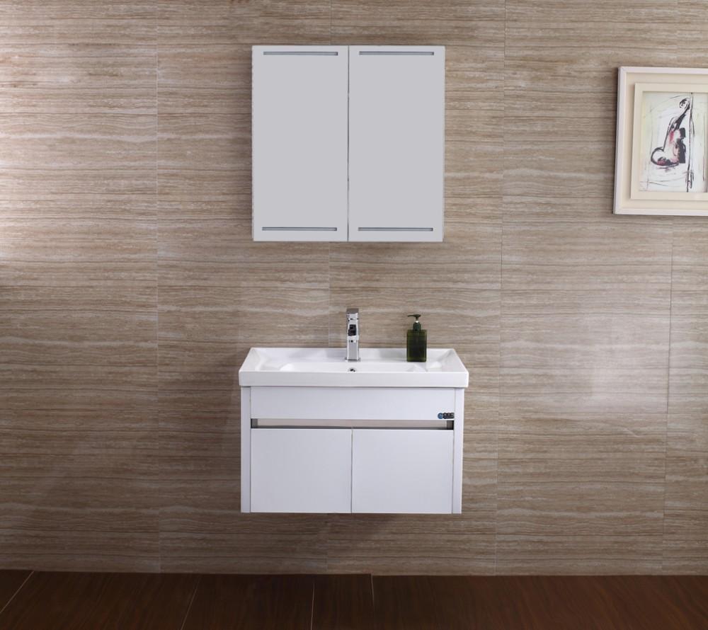 2016 European Modern Stainless Steel Bathroom Cabinet Vanity With Led Light T-076 - Buy Vanity ...