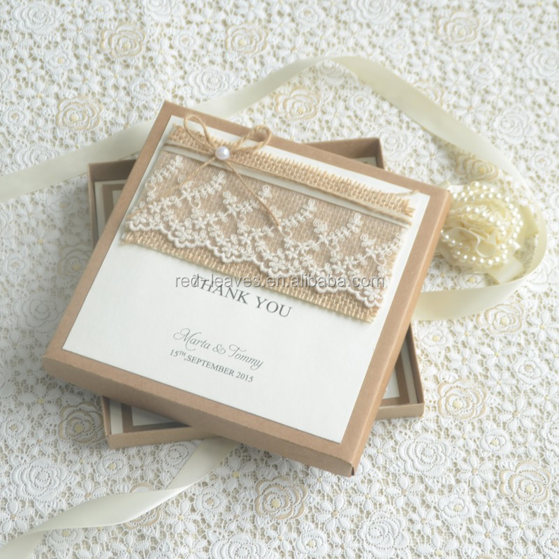 Vintage Wedding Invitation Cards Lace Pearl Wedding Invitation Card ...