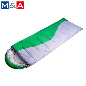 Hot selling high quality winter travel waterproof outdoor cotton lightweight camping sleeping bag