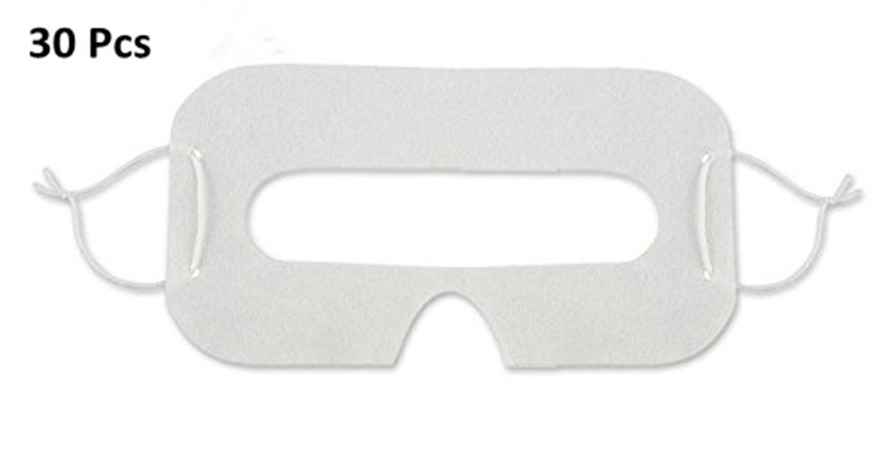Good News 30 Pcs VR Disposable Sanitary White Eye Mask for Virtual Reality Headset for Gear VR Oculus Rift HTC Vive PlayStation VR
