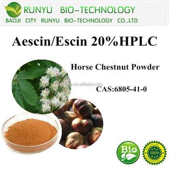 Antihydropic medicine aescin,aesculus chinensis P.E.,escin powder 20%-98%