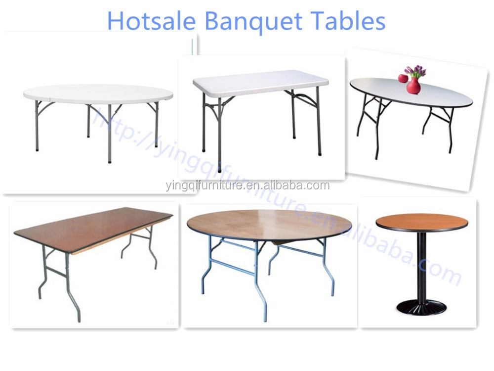 Cheap Rectangular plastic outdoor folding table