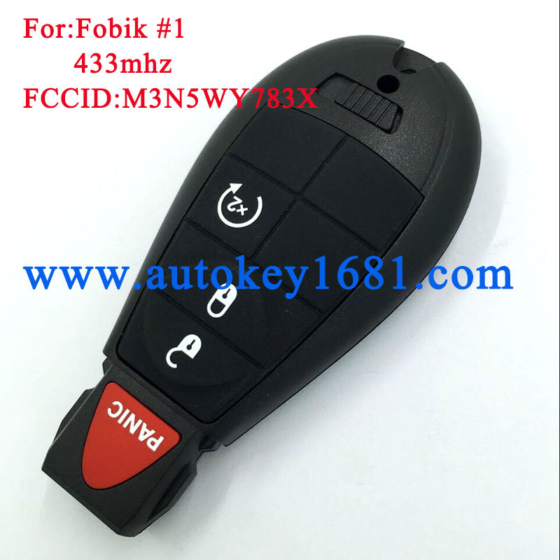 Replacement Fobik Keyless Remote 2008-2010 Chrysler 300 FOR M3N5WY783X ONLY