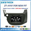 ZESTECH Factory OEM CE certification and 7 inch 2 din Car radio for Honda Fit auto parts with GPS Navigation