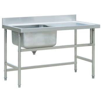 Commercial Stainless Steel Single Bowl Sink Bench With