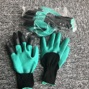Garden Gloves With Fingertips Claws,Best Gift For Gardener,2 Pairs Working Genie Gloves With Double Claws