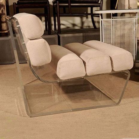 new classical living room acrylic base sofa