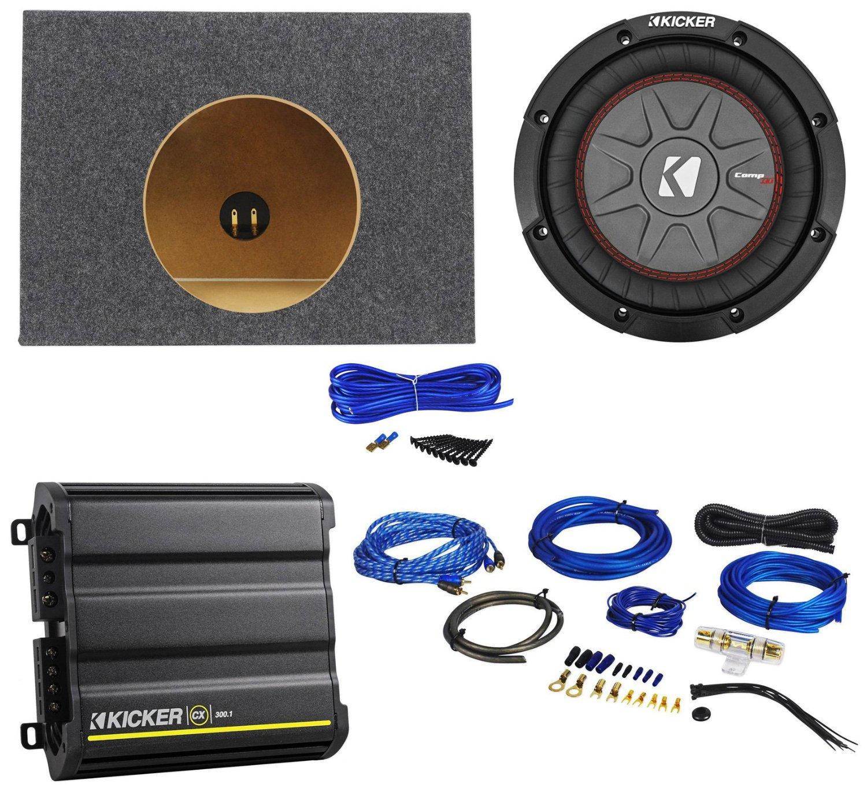 Buy Packagekicker 43cwrt81 8600w Sub W 1ohm Dvc Kicker Cx3001 Amp Wiring Kit Cx300