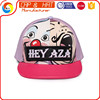 Dong Guan Cap Factory Ladies Hats PU Leather Printed Snapback Caps