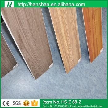 Malaysia Fashion Style Selections Wood Flooring Vinyl Sheet Black
