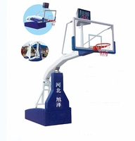 Professional indoor movable manual hydraulic basketball stand basketball hoop stand