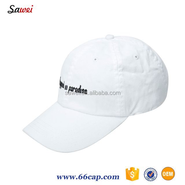 a1ed2e19ec2 plain white Fashion Dad Hat Baseball Cap constructed Polo Style with  Adjustable Metal Belt Strap