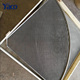 Fan-shaped stainless steel V shaped wedge wire mesh screen flat