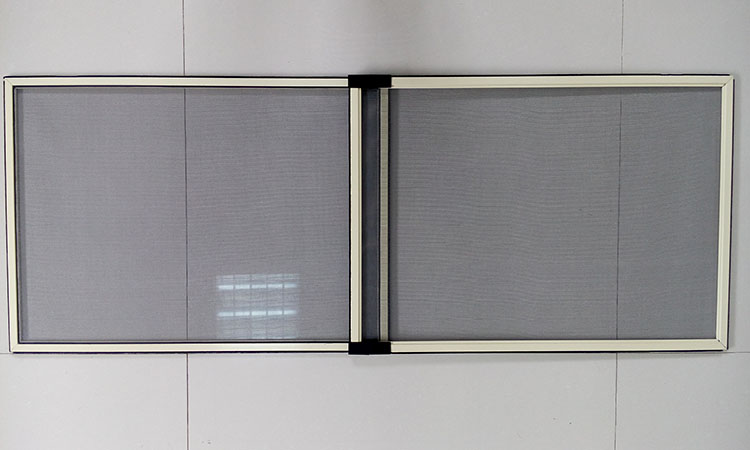 Sliding mosquito screen for window extensible screen window