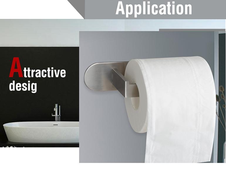 למעלה איכות חזק דבק nailless אמבטיה נירוסטה רקמות מחזיק
