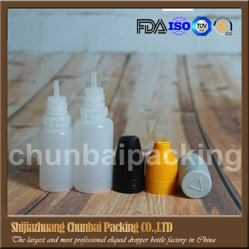 Injecton blow molding plastic dropper bottles 9mm triangle on child proof cap