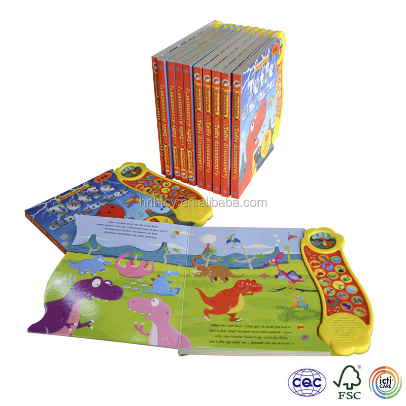 My hot Maga Sound Book Printing , Children's Hardcover Music board Book , comic voice recordable coloring book for Children
