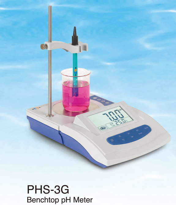 large screen manual temperature compensation ph orp meter lab water analyzer