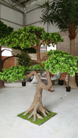 Chinese manufacture artificial pine tree decorative fake tree buddhist pine tree for home garden decoration