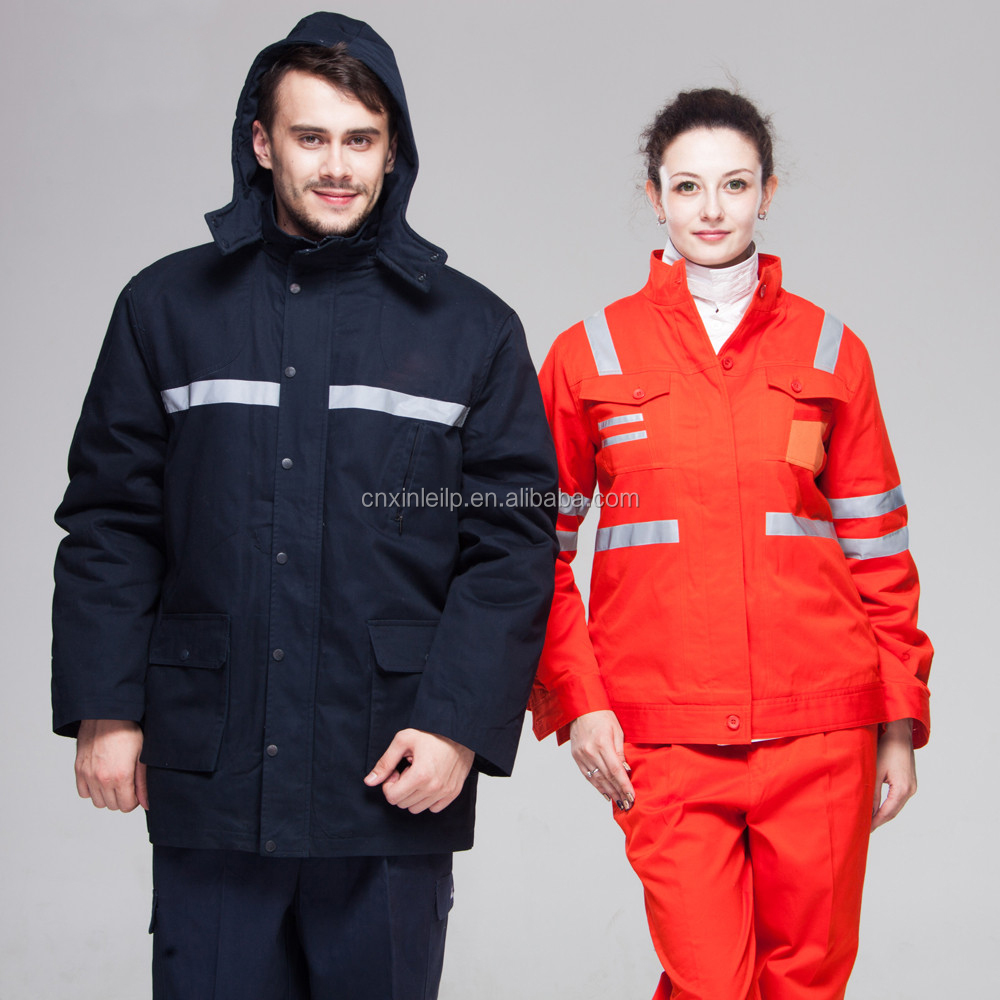 100% Cotton Outer Reflective Safety Winter Work Wear