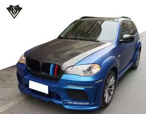 BW X5 E70 wide body kit 4 outlet fiber glass hm body kit
