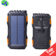 Amazon Hot Sale 25000mAh large capacity solar power bank, IPX6 waterproof phone solar charger wholesale