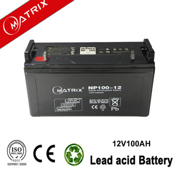 12v 100ah sealed lead acid deep cycle battery with certificates 3 years warranty