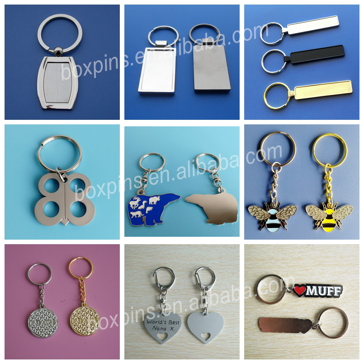 Custom Animal Shape Keychains Soft Enamel Spider Promotional Key Chain