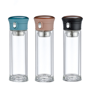 220ml cool glass water bottle small glass water bottle glass bounce cup with tea filter