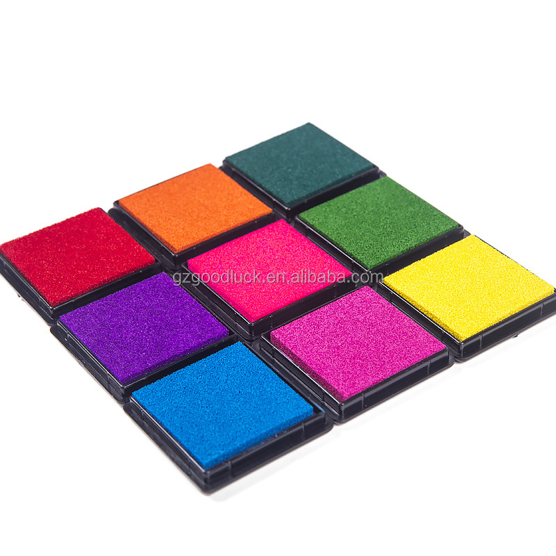 Perfect performance inking pad toy stamp pad box/Various color toy stamp pad