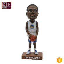 Wholesale Polyresin Customized Resin NBA Bobble Head Doll Statue, Kevin Durant Bobblehead