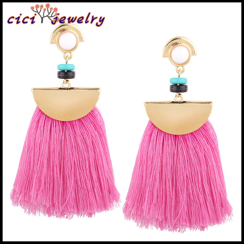 Tassel for jewelry long tassel thread tassle earring fringe dangle earrings