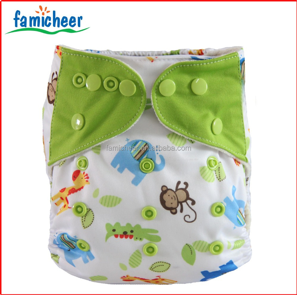 Microfleece Inner Double Gusset Pocket Aio Re-usable Cloth Diapers ...