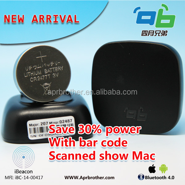 Ti CC2541 beacon ble with barcode for indoor navigation
