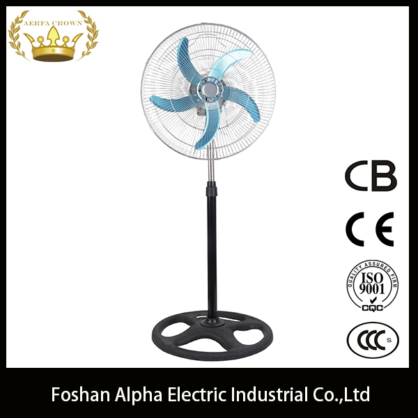 "good quality best price 18""oscillating industrial stand fan 4 holes round base"